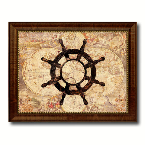 Compass Vintage Nautical Map Home Decor Wall Art Livingroom Decoration