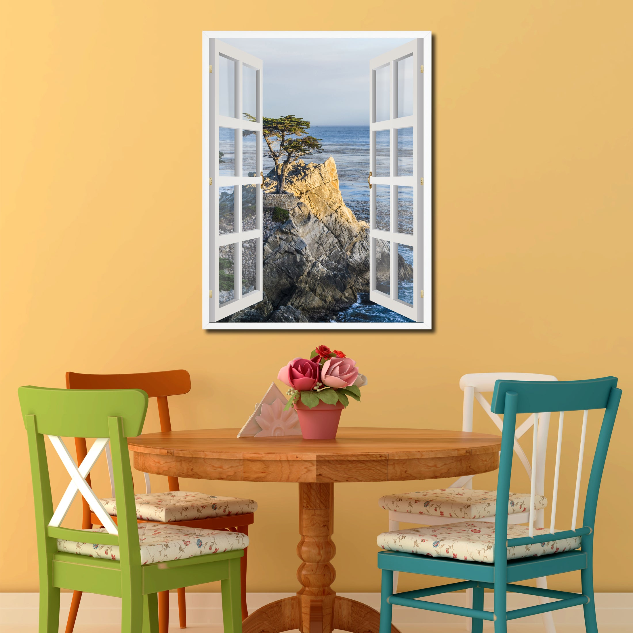 10 Beach House Decor Ideas: Monterey Beach View Picture Window Wall Art Home Decor