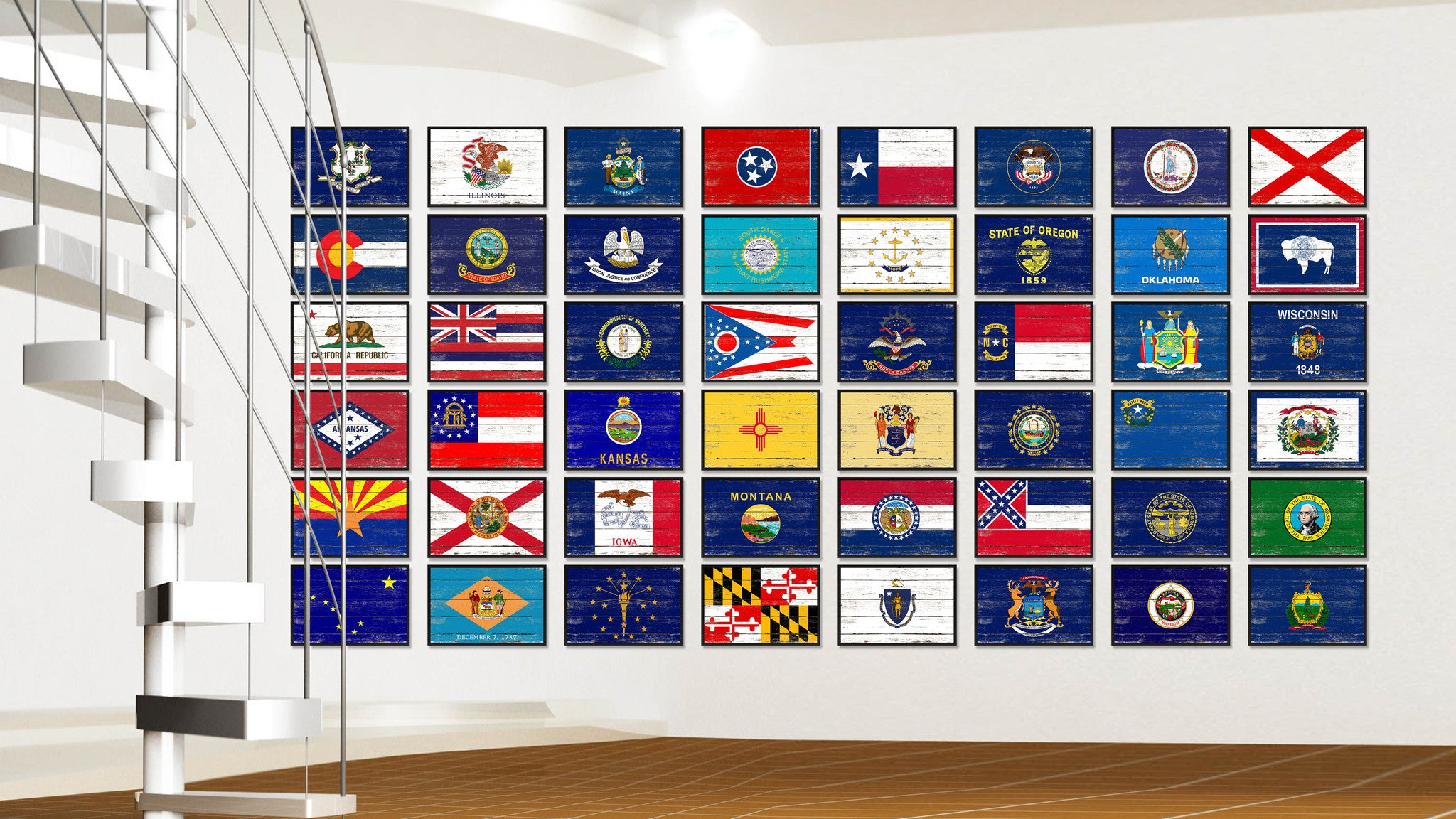 Virginia Flag Canvas Print, Picture Frame Gift Ideas Home Décor Wall Art Decoration