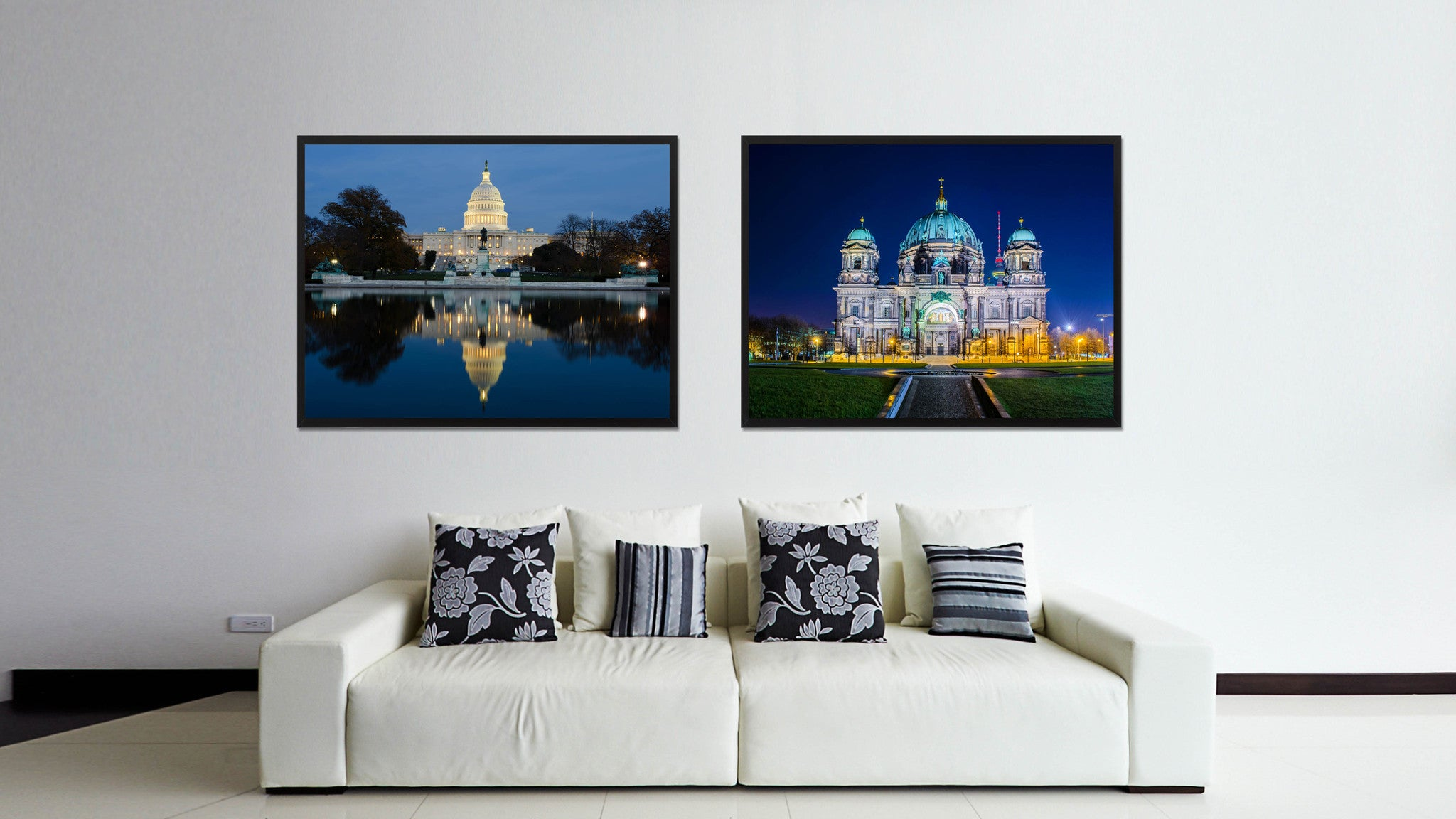 Berliner Dom Cathedral Landscape Photo Canvas Print Pictures Frames Home Décor Wall Art Gifts