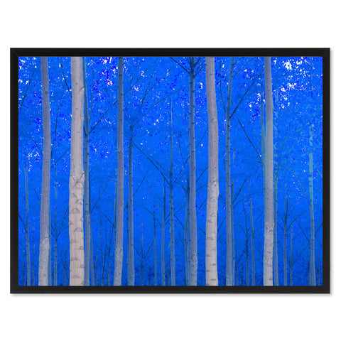 Autumn Tree Blue Landscape Photo Canvas Print Pictures Frames Home Décor Wall Art Gifts