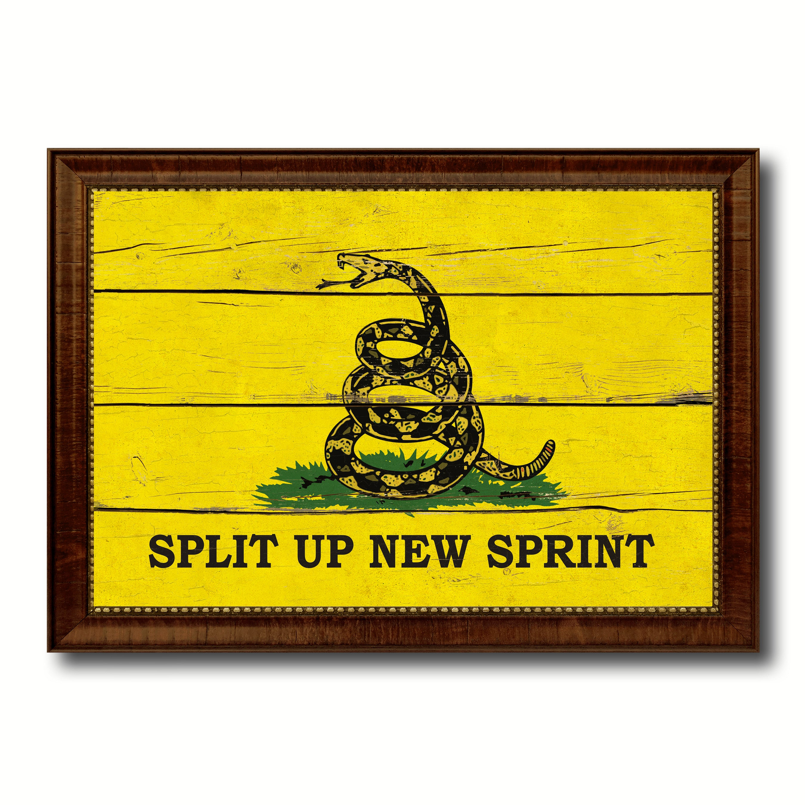 Split Up New Sprint Military Vintage Flag Patriotic office Wall Home ...