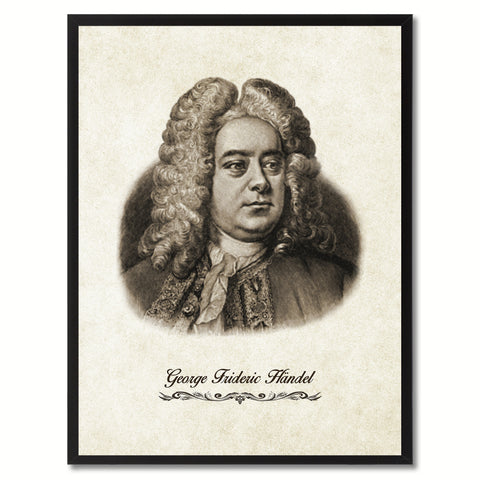 Handel Musician Canvas Print Pictures Frames Music Home Décor Wall Art Gifts