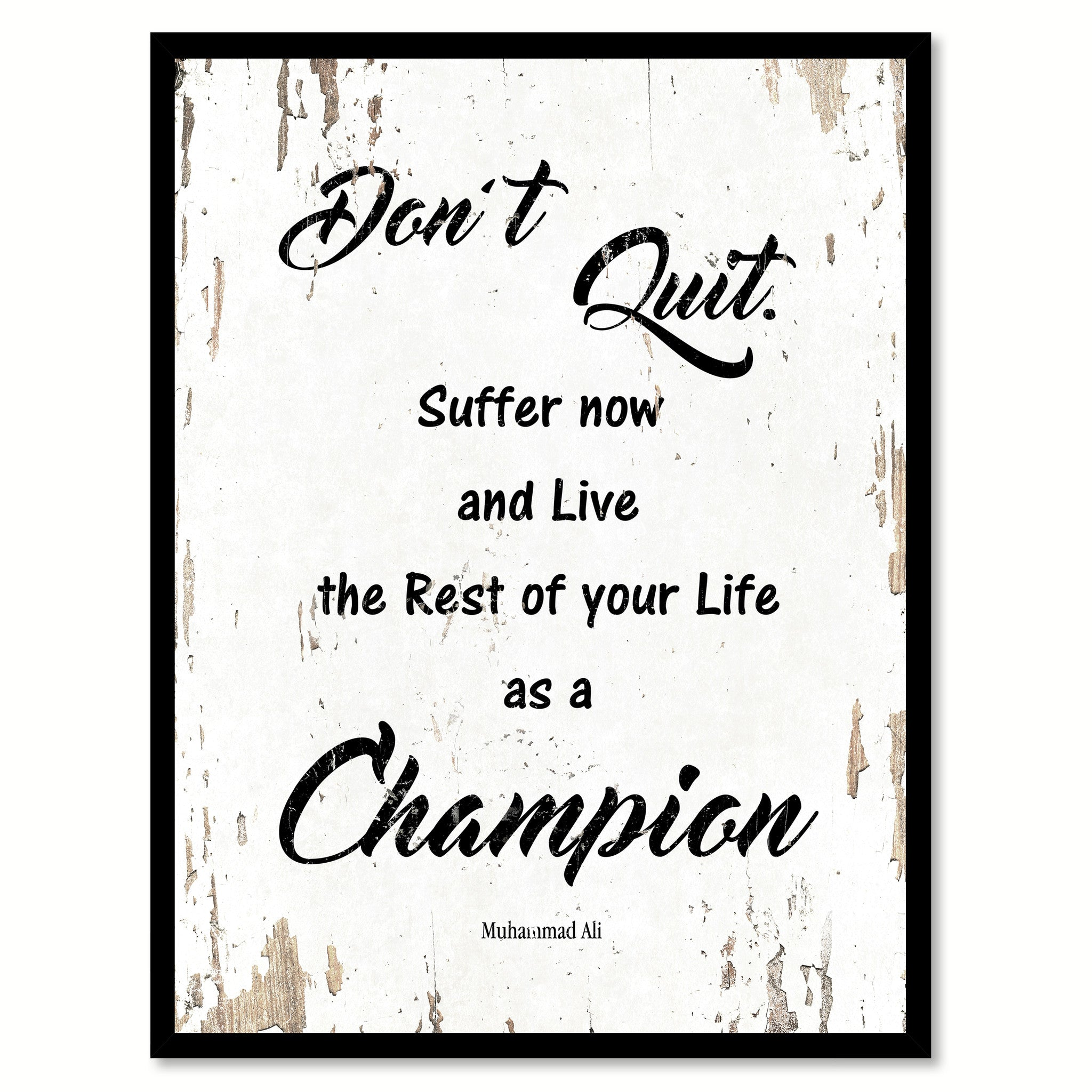 Don't Quit Motivation Quote Saying Gift Ideas Home Decor Wall Art 111482