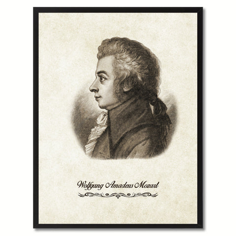 Mozart Musician Canvas Print Pictures Frames Music Home Décor Wall Art Gifts
