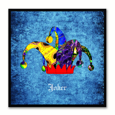 Joker Blue Canvas Print Black Frame Kids Bedroom Wall Home Décor