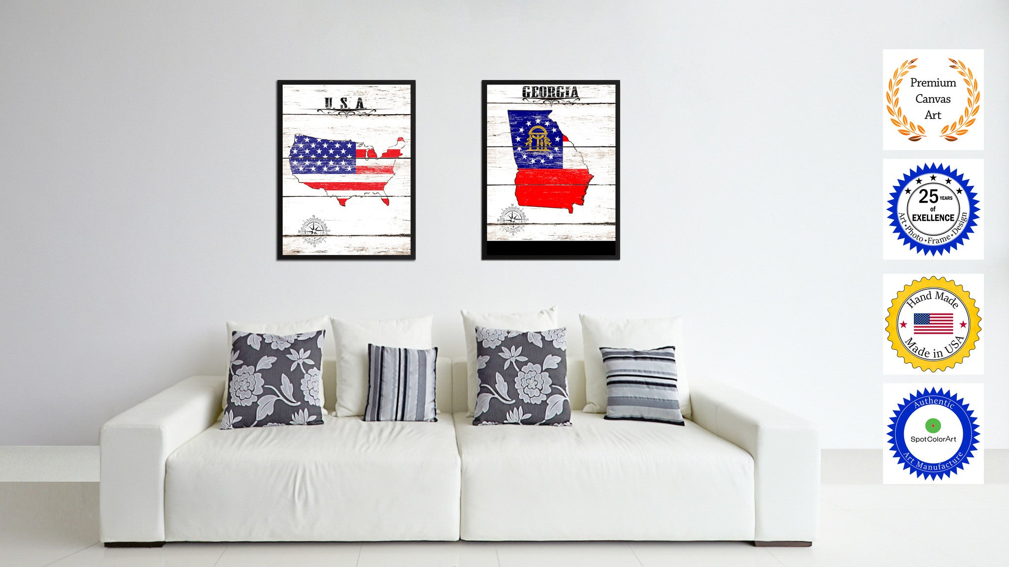 office wall frames. Georgia State Flag Gifts Home Decor Wall Art Canvas Print Picture Frames Office S