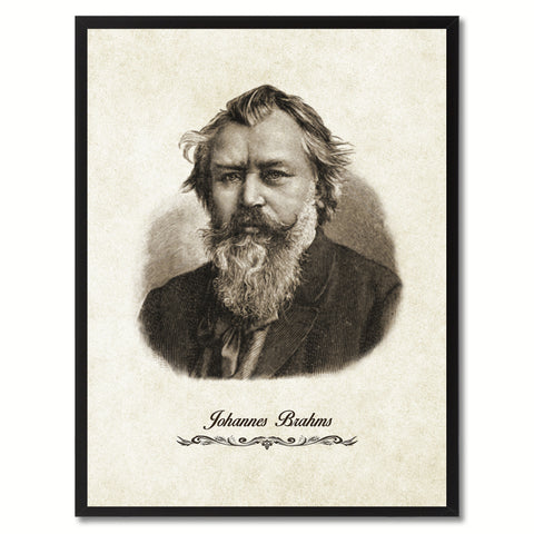 Brahms Musician Canvas Print Pictures Frames Music Home Décor Wall Art Gifts