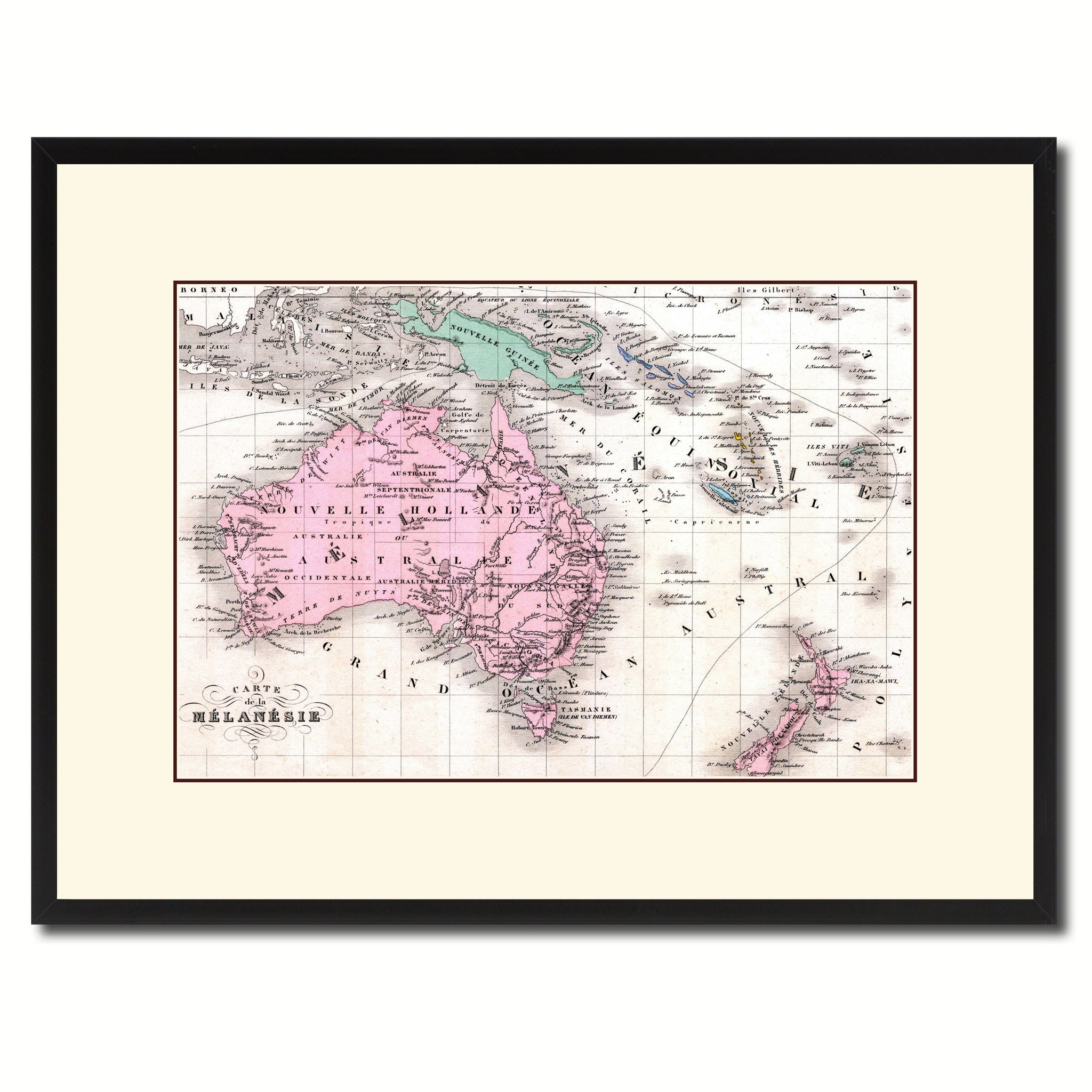 New Zealand Oceania Australia Vintage Antique Map Wall Art Home Decor Gift Ideas Ebay