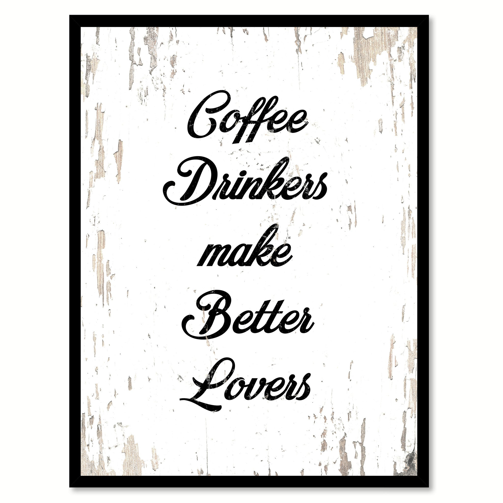 Coffee Drinkers Make Better Lovers Wine Saying Quote Typography Gift Ideas Home Decor Wall Art SpotColorArt