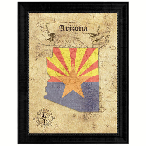 Arizona State Vintage Map Gifts Home Decor Wall Art Office Decoration