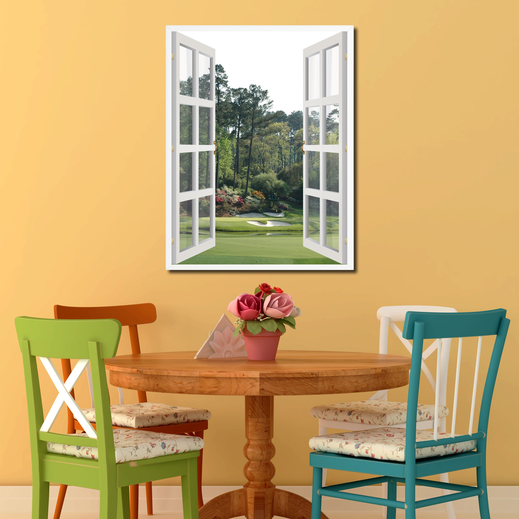Masters Hole Augusta Picture Window Wall Art Home Decor Gift Ideas ...