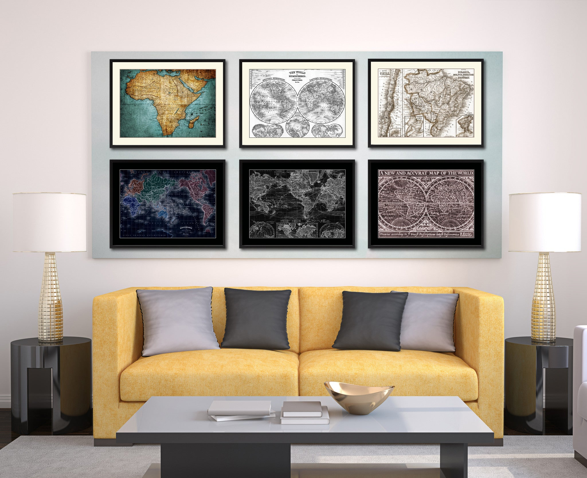 Afghanistan Persia Iraq Iran Vintage Sepia Map Canvas Print, Picture Frame  Gifts Home Decor Wall Art Decoration