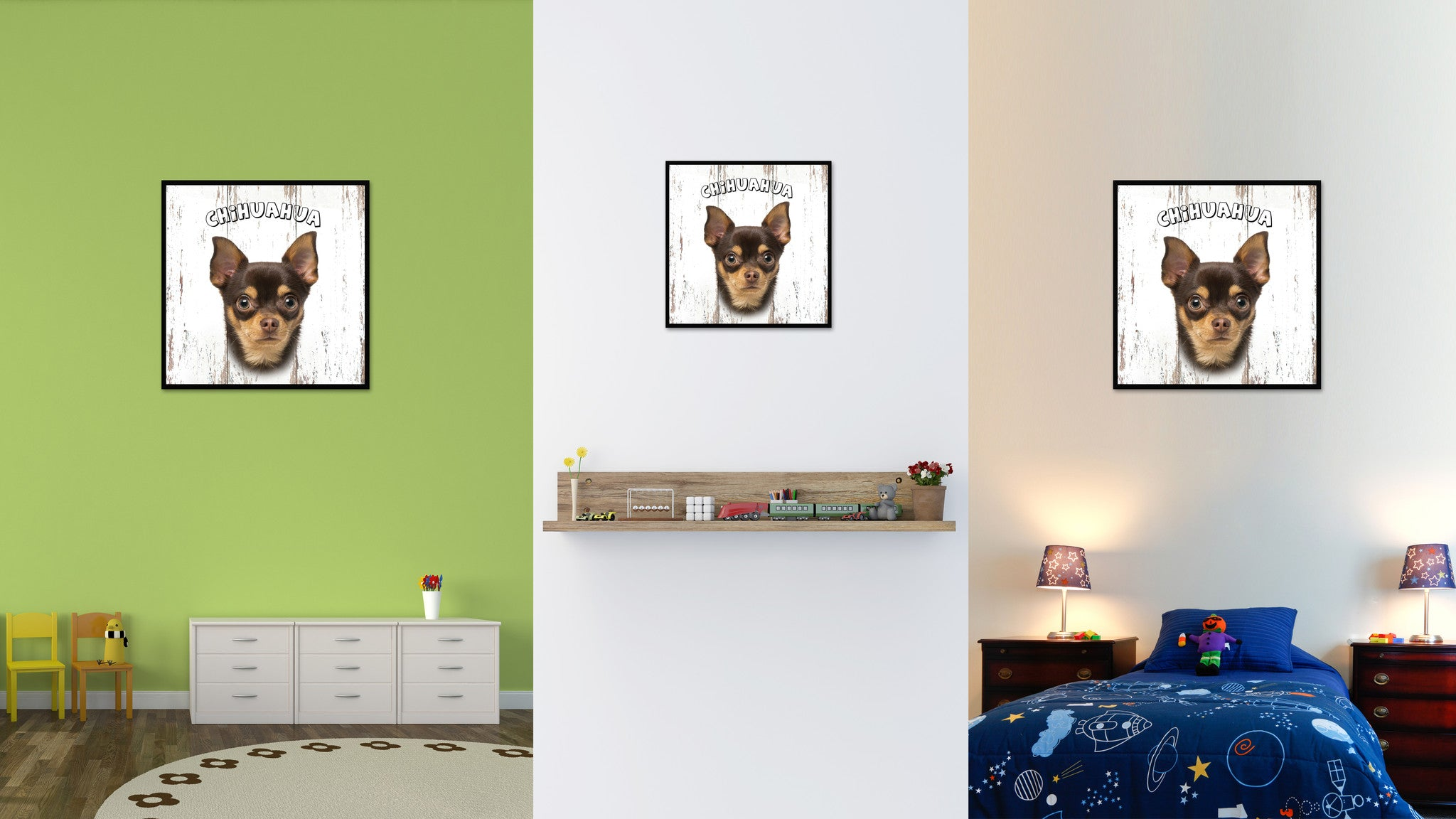 Chihuahua Dog Canvas Print Picture Frame Gift Home Decor Wall Art Decoration