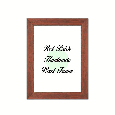 Red Brick Wood Frame Wholesale Farmhouse Shabby Chic Picture Photo Poster Art Home Decor