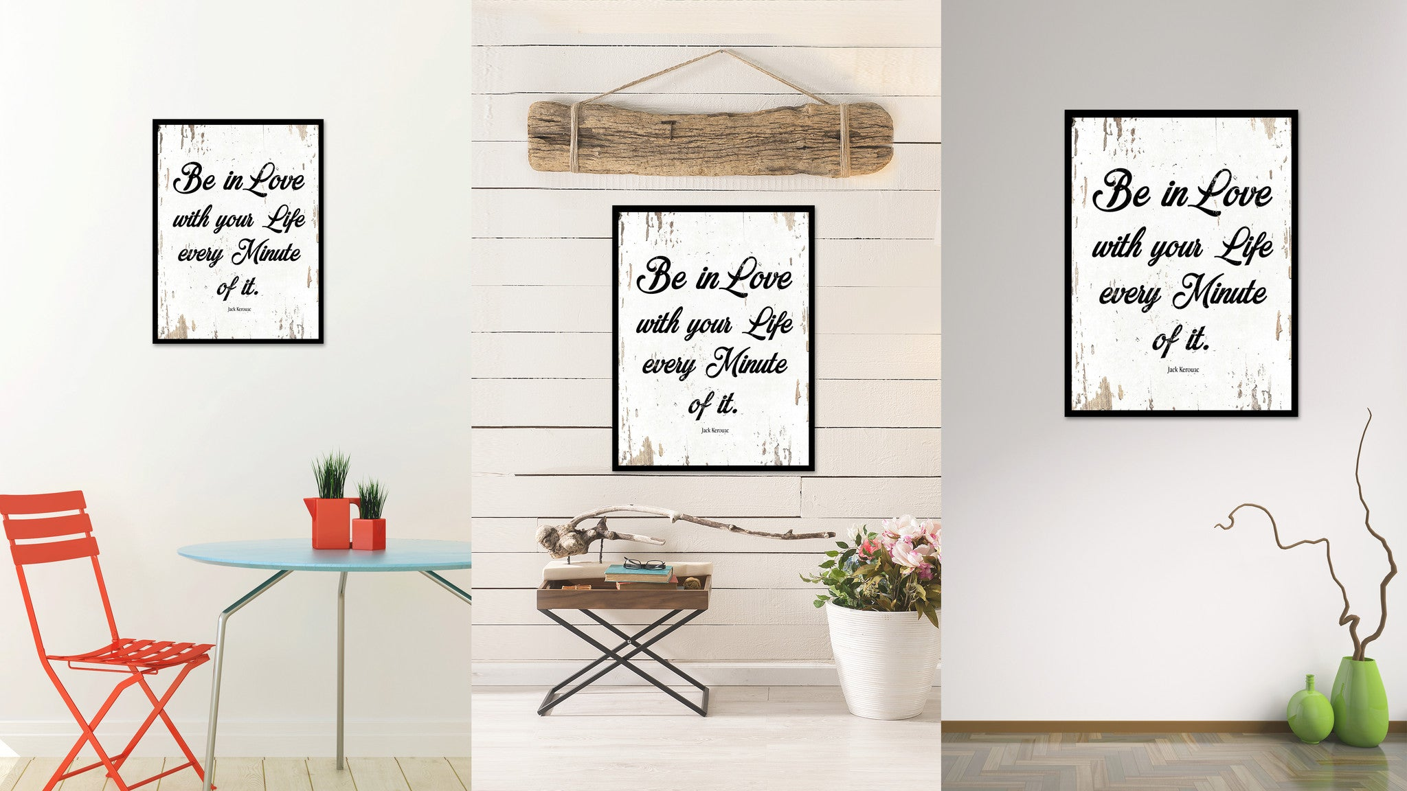 Be In Love With Your Life Jack Kerouac Quote Saying Home Decor Wall Art Gift Ideas 111686