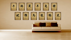 Zodiac Dragon Horoscope Character Canvas Print Picture Frame Gifts Home Decor Wall Art Decoration