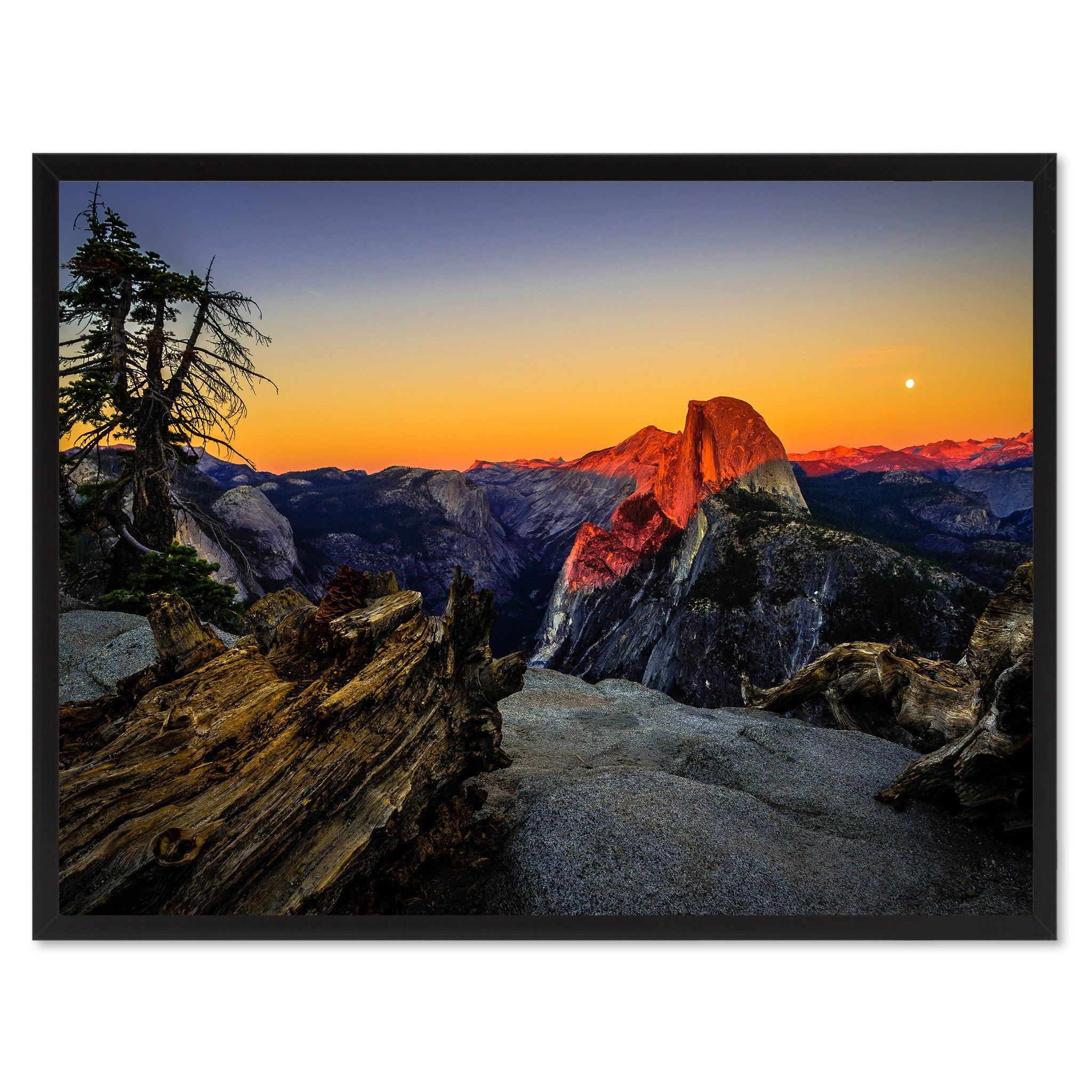 Half Dome California Landscape Photo Canvas Print Pictures Frames Home Décor Wall Art Gifts