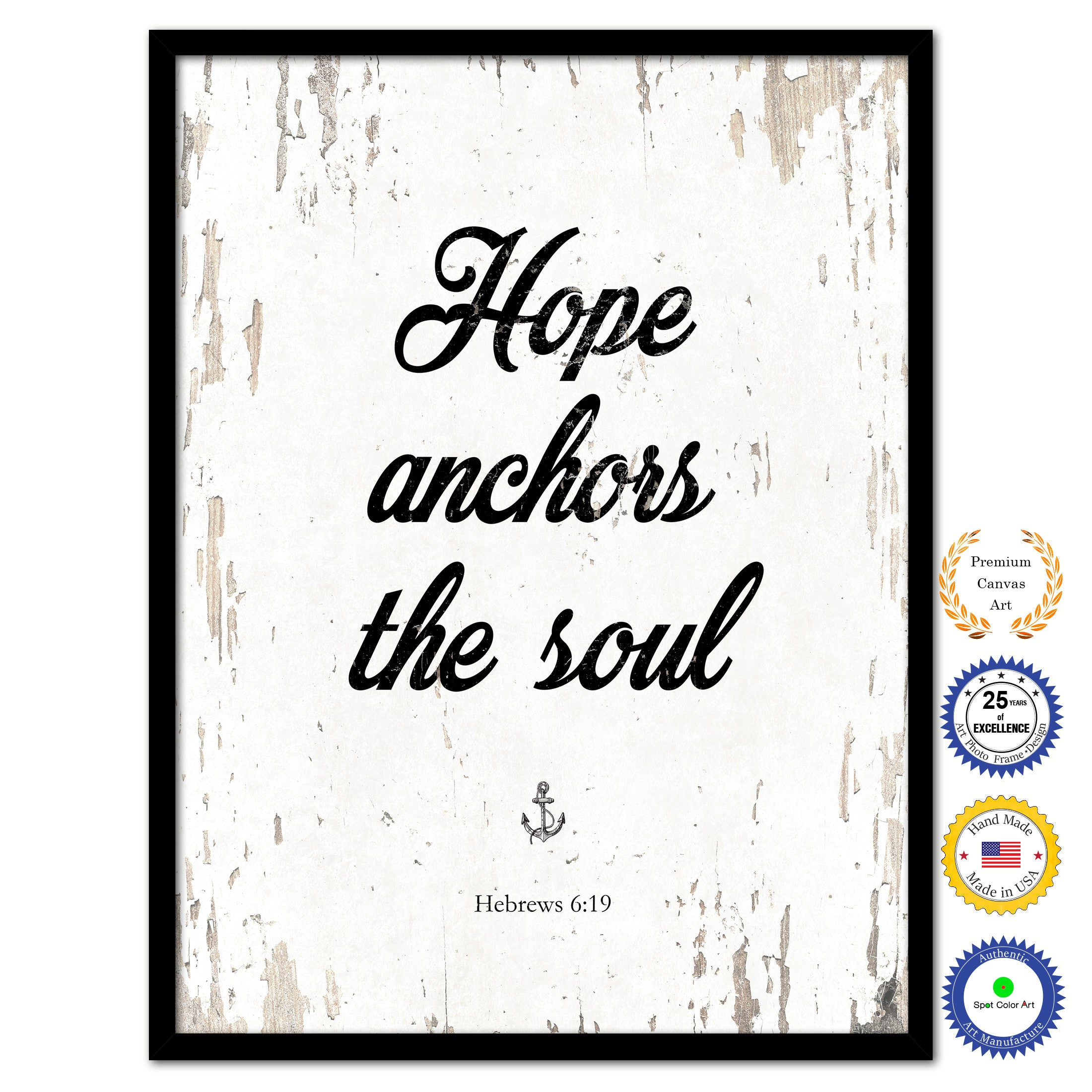 Bible Quotes About Hope Hope Anchors The Soul  Hebrews 619 Inspirational Bible Verse
