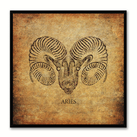 Zodiac Dog Horoscope Canvas Print Picture Frame Gifts Home Decor Wall Art Decoration
