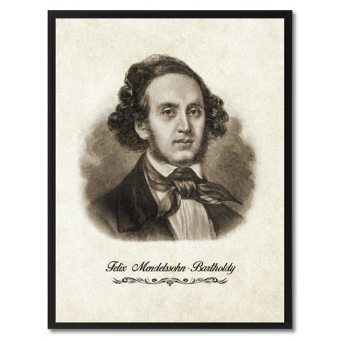 Mendelssohn Musician Canvas Print Pictures Frames Music Home Décor Wall Art Gifts