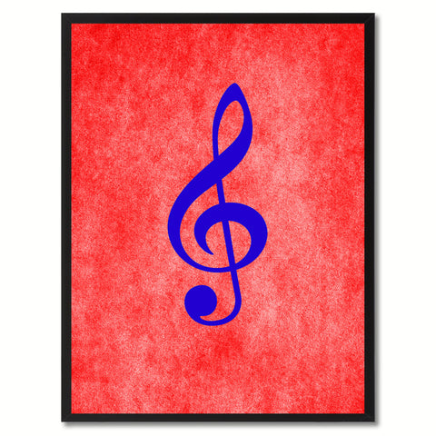 Treble Music Red Canvas Print Pictures Frames Office Home Décor Wall Art Gifts