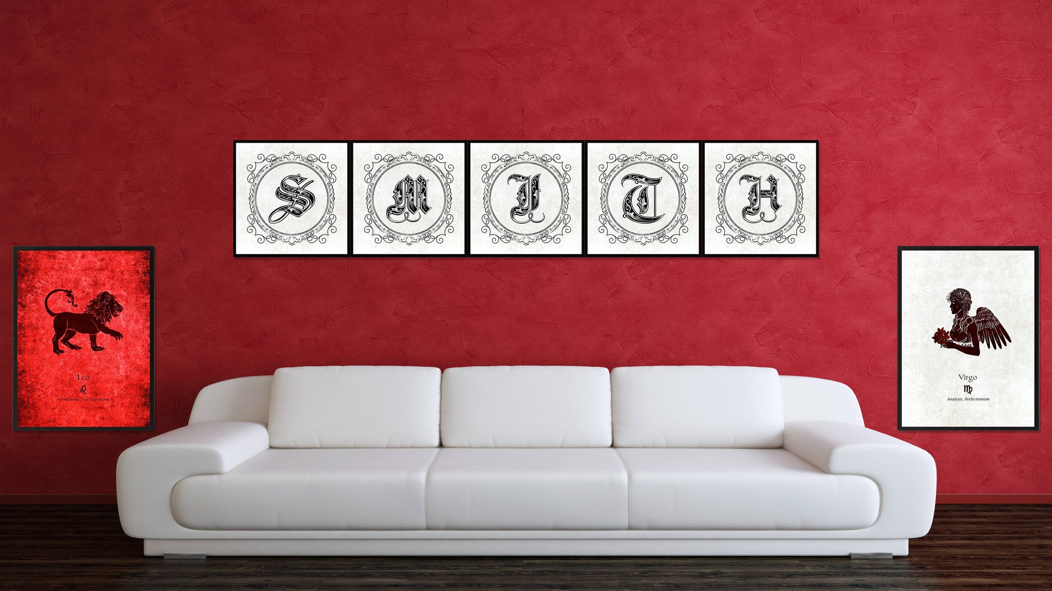 Alphabet F Brown Canvas Print Black Frame Kids Bedroom Wall Décor Home Art