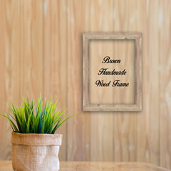 Brown Wood Photo Poster Art Canvas Picture Frame Decor Custom Frame Great for Farmhouse Vintage Rustic Shabby Chic Cottage beach decoration