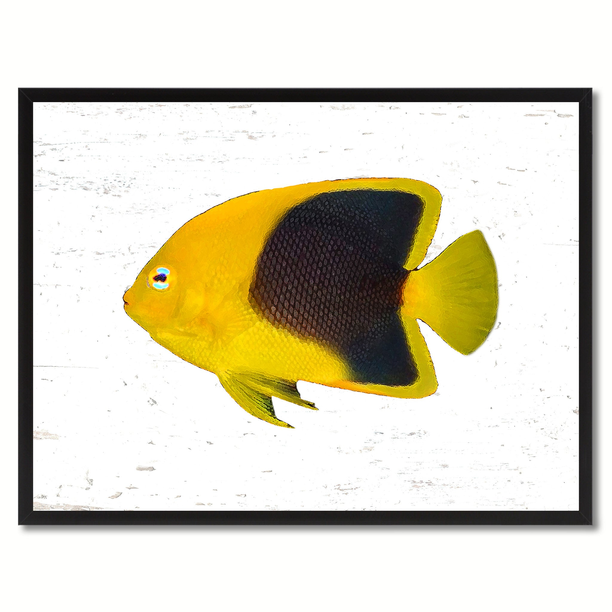 Yellow Angel Tropical Fish Painting Reproduction Canvas Print Home ...