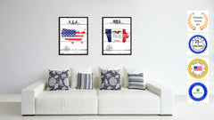 Iowa State Flag Gifts Home Decor Wall Art Canvas Print Picture Frames