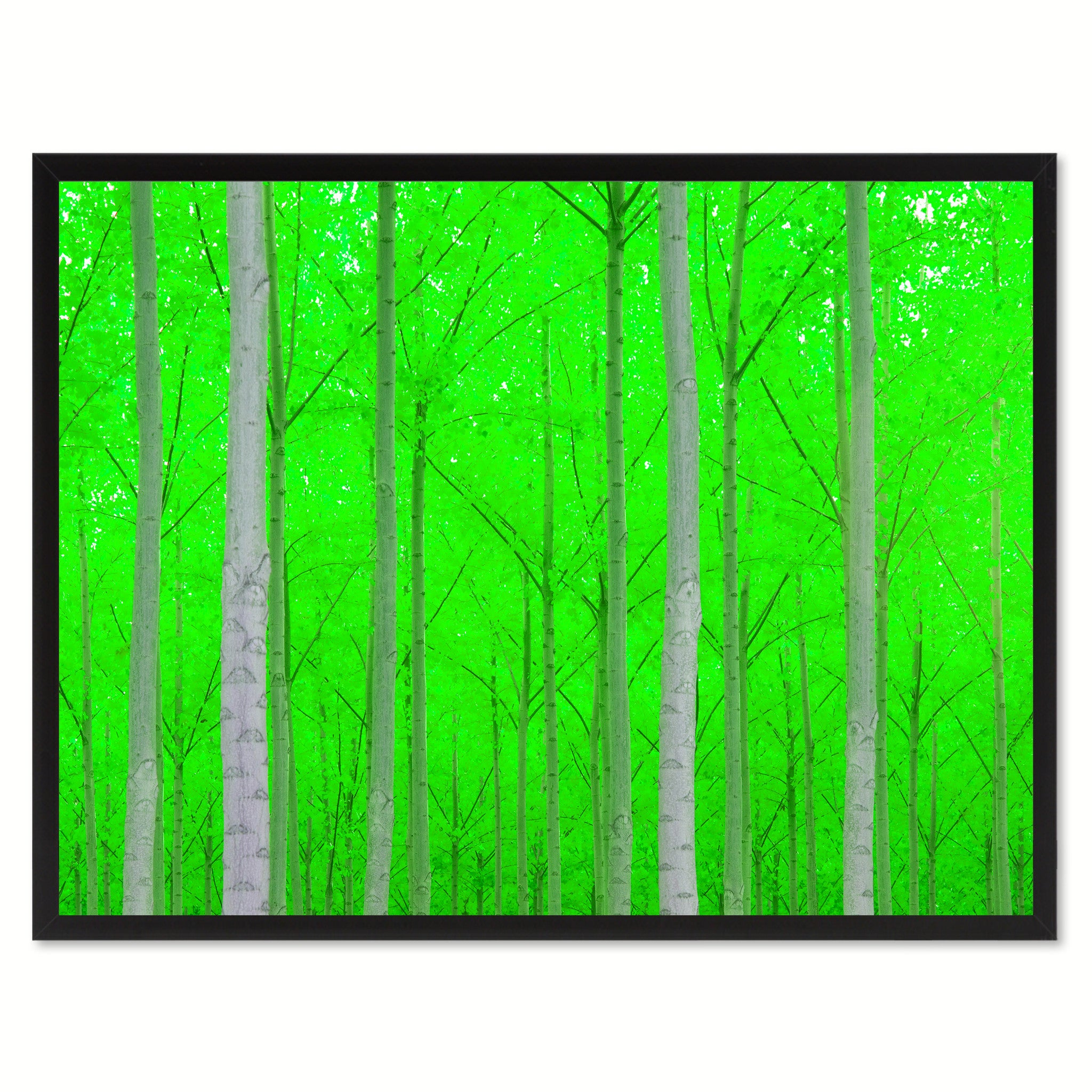 Autumn Tree Green Landscape Photo Canvas Print Pictures Frames Home Décor Wall Art Gifts
