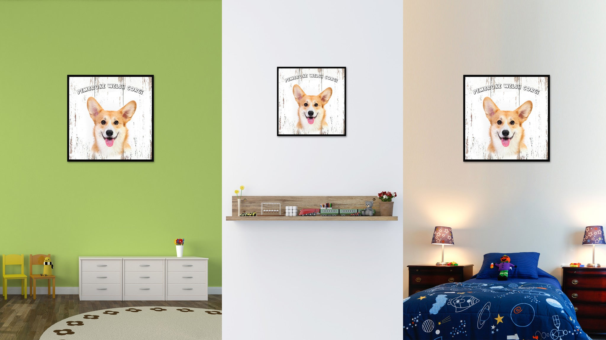 Pembroke Welsh Corgi Dog Canvas Print Picture Frame Gift Home Decor Wall Art Decoration