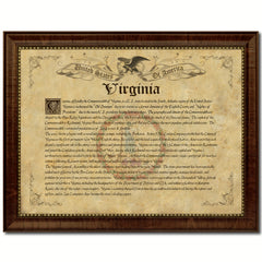 Virginia Vintage History Flag Canvas Print, Picture Frame Gift Ideas Home Décor Wall Art Decoration