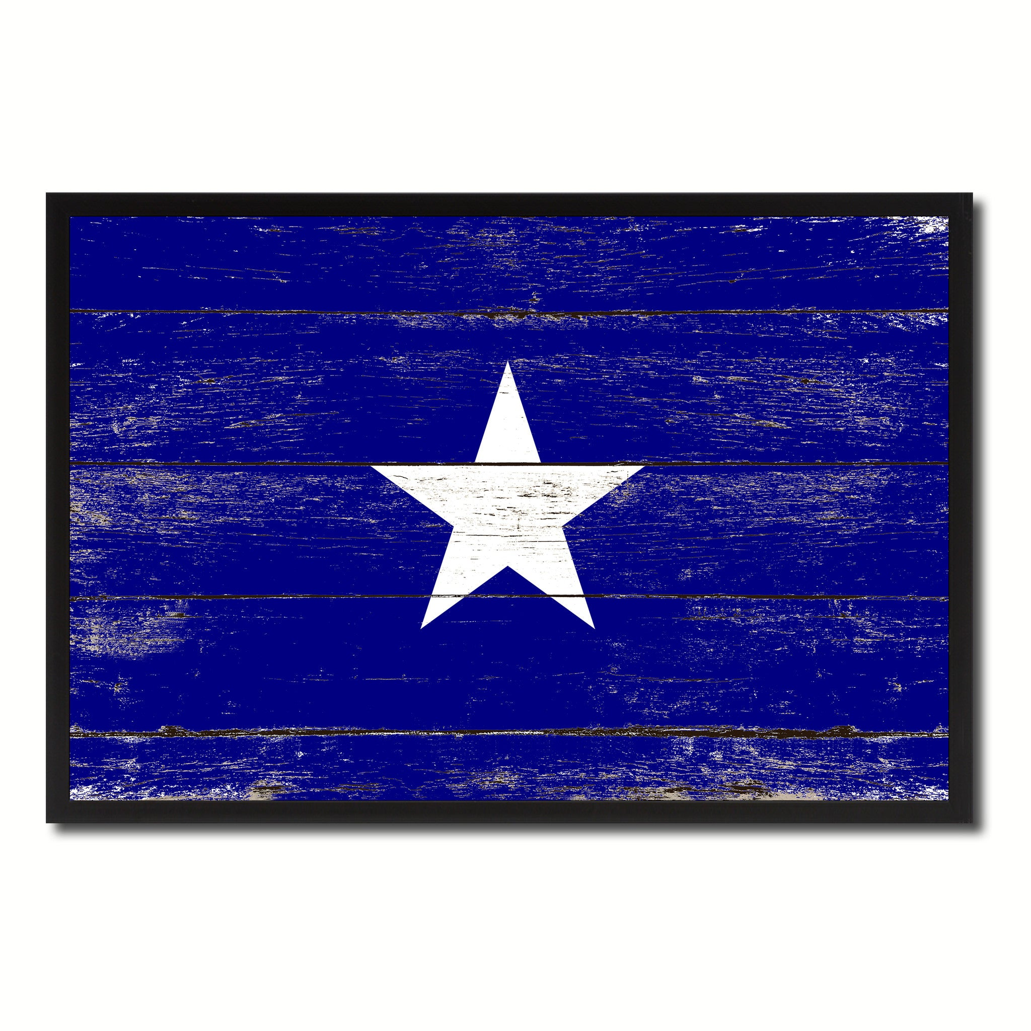 Bonnie Blue in Republic of West Florida Military Flag Vintage Canvas Print with Picture Frame Home Decor Man Cave Wall Art Collectible Decoration Artwork Gifts