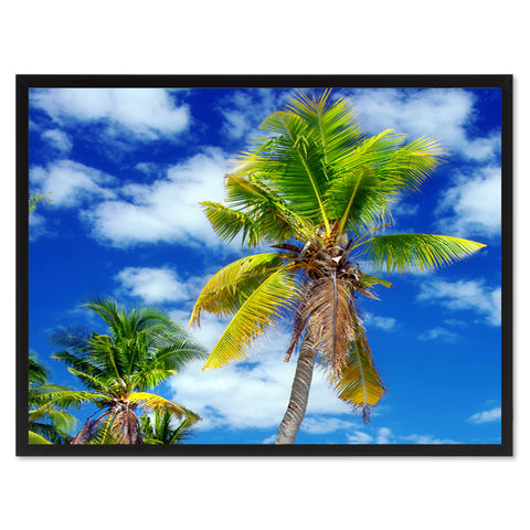 Palm Tree Landscape Photo Canvas Print Pictures Frames Home Décor Wall Art Gifts
