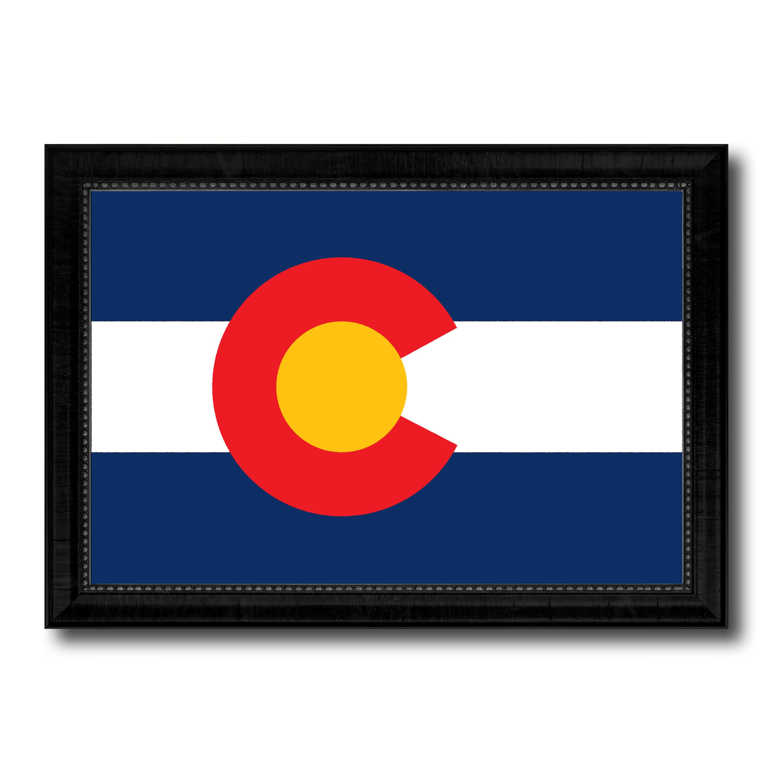 Colorado State Flag Canvas Print with Custom Black Picture Frame Home Decor Wall Art Decoration Gifts