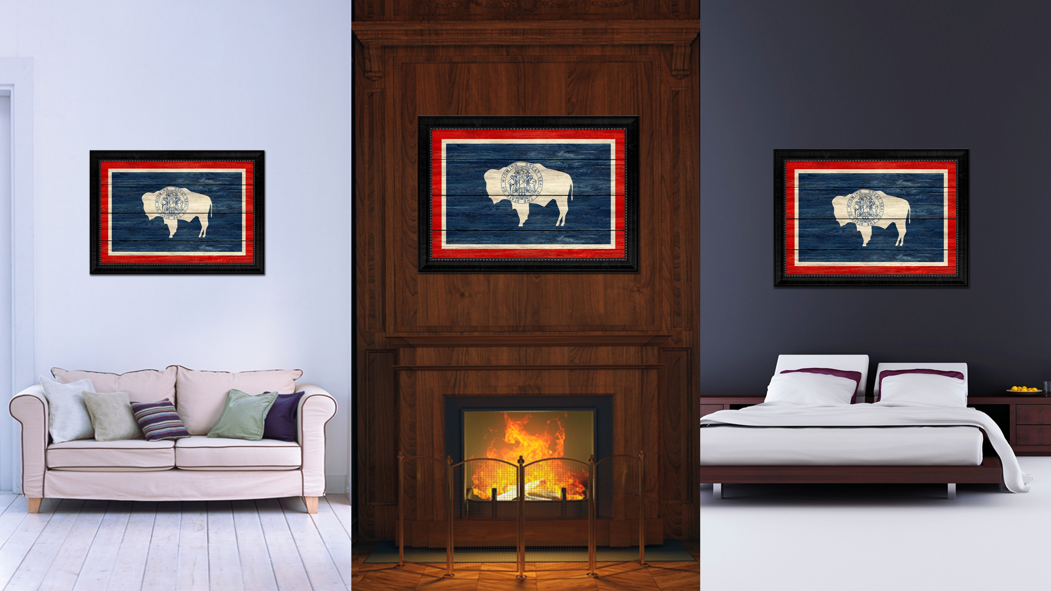 Living Room Wall Art And Decor Wyoming State Home Decor Office Wall Art Decoration Bedroom