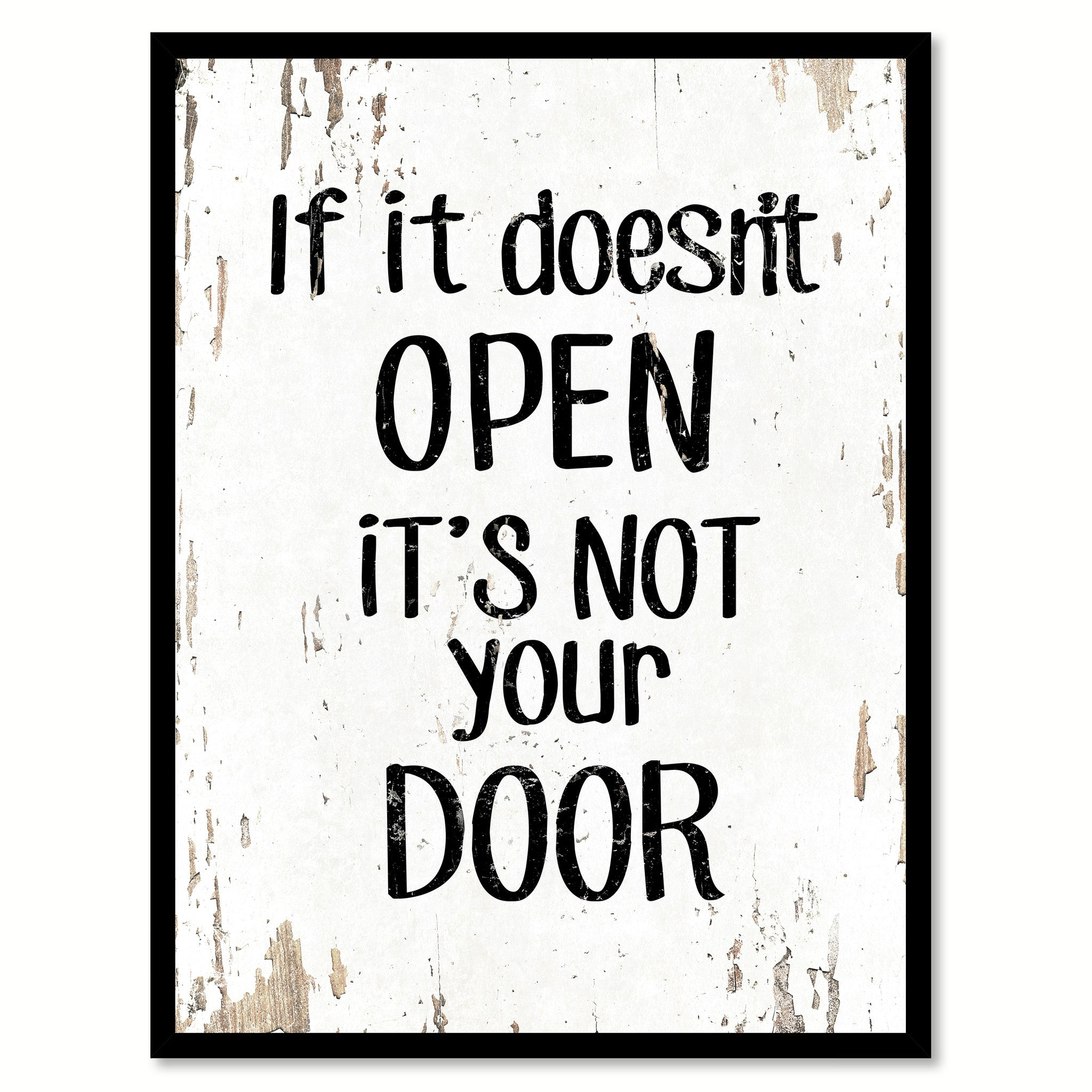 Humor Inspirational Quotes: If It Doesn't Open It's Not Your Door Inspirational