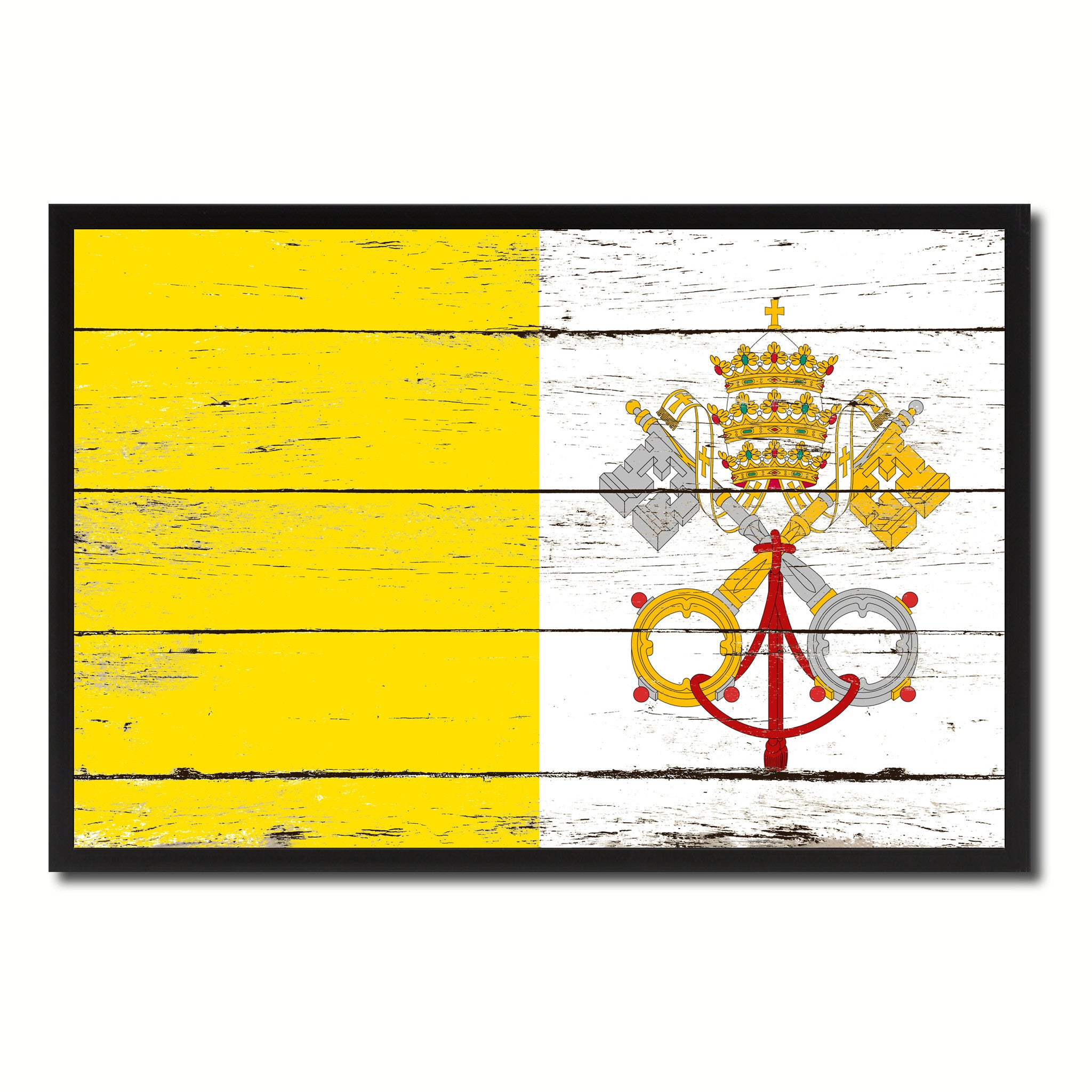 Vatican City Country National Flag Home Decor Gift Ideas Wall ...
