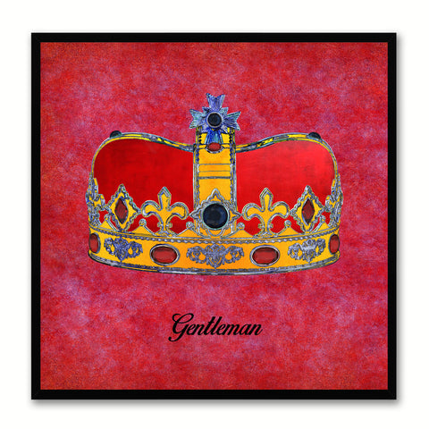 Gentleman Red Canvas Print Black Frame Kids Bedroom Wall Home Décor