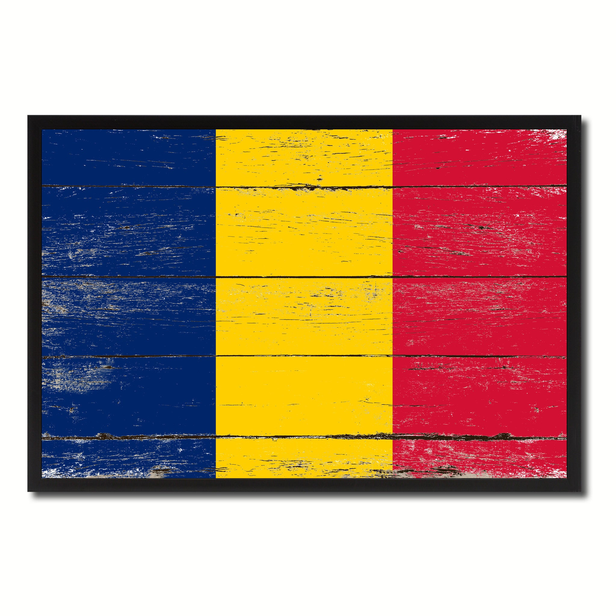 Chad Country National Flag Vintage Canvas Print with Picture Frame Home Decor Wall Art Collection Gift Ideas