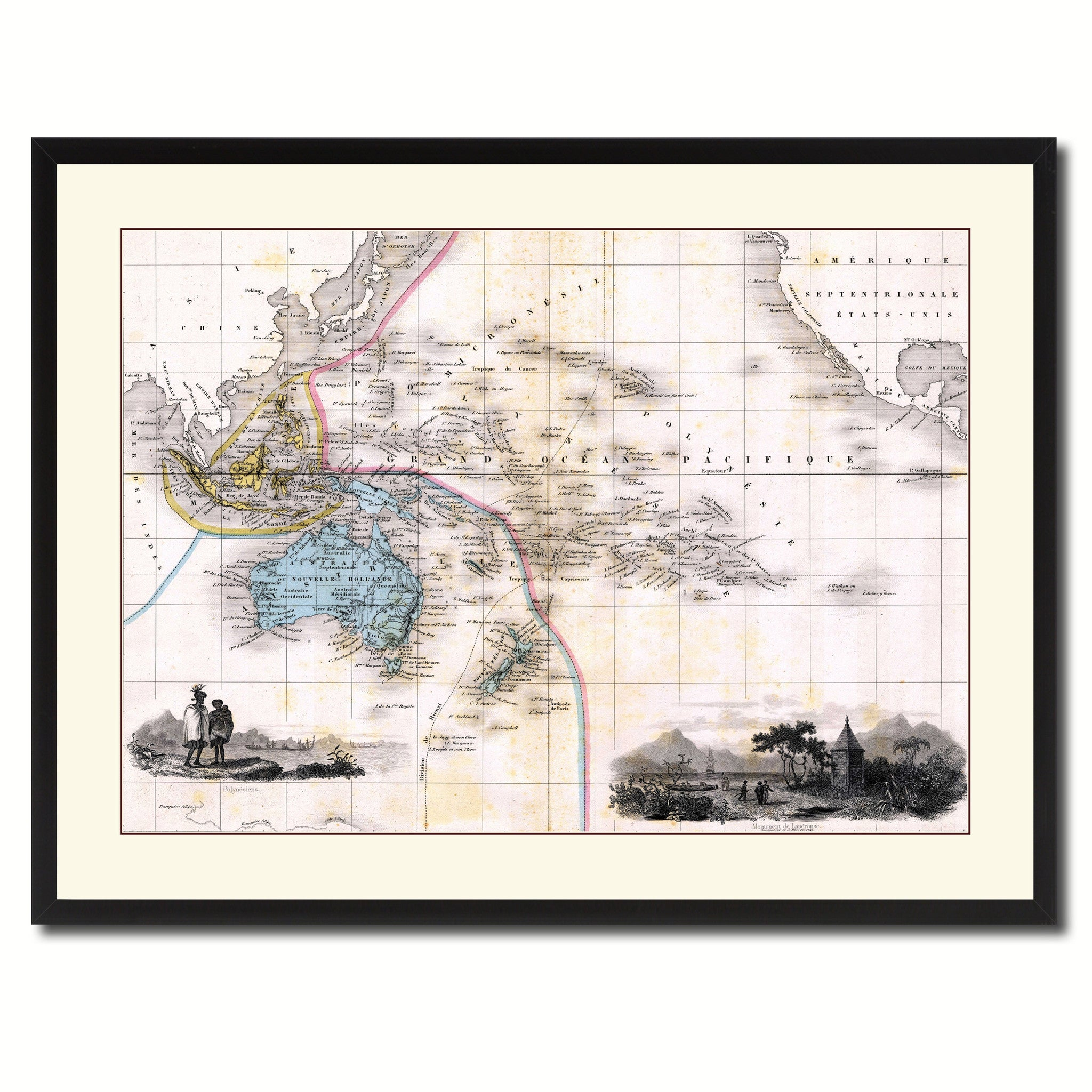 Oceania Australia New Zealand Vintage Antique Map Wall Art Home Decor Gift Ideas Ebay