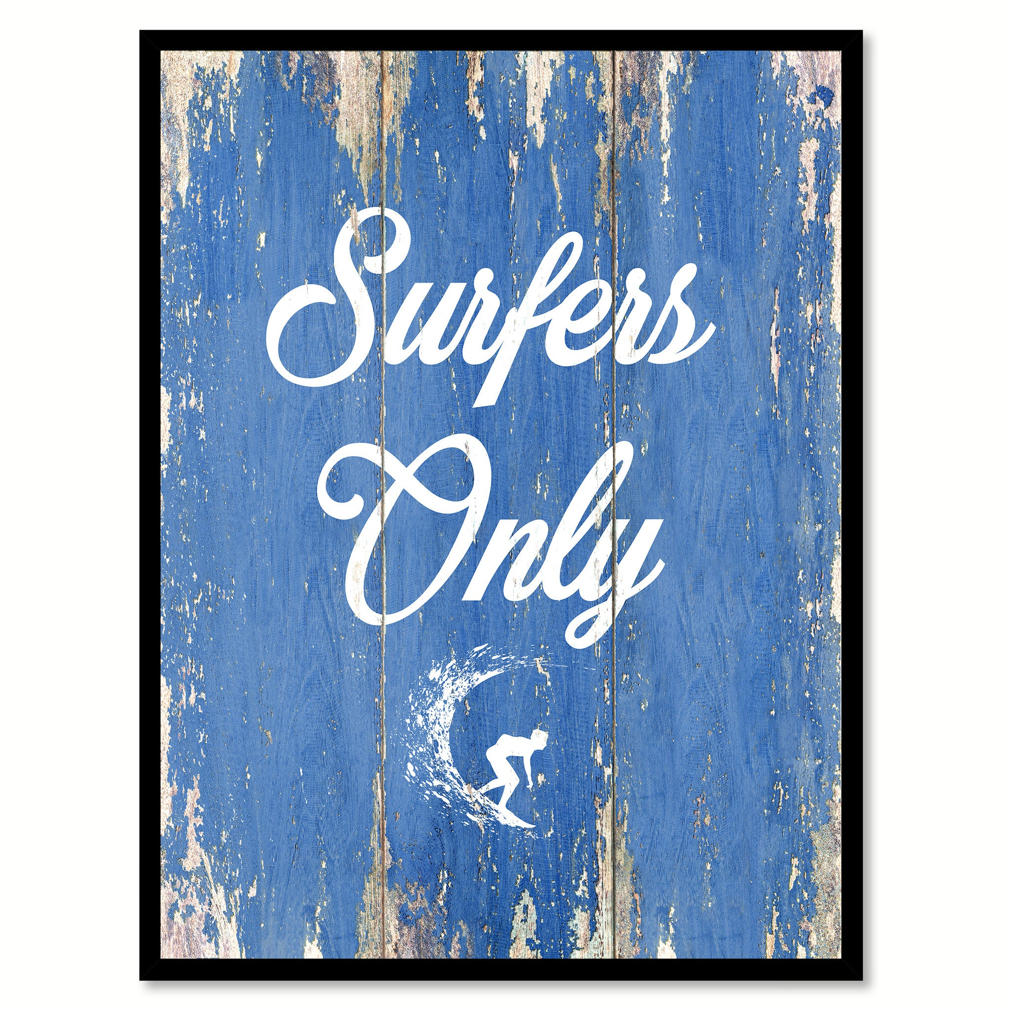 Only Surfer Quote Saying Canvas Print With Custom Picture Frame Gifts Home Decor Wall Art – SpotColorArt
