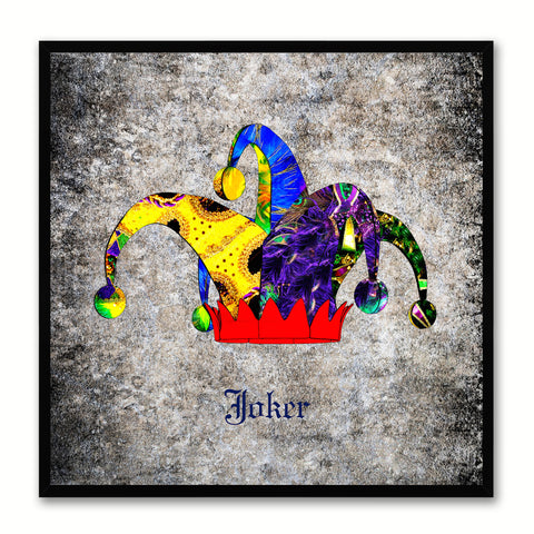 Joker Black Canvas Print Black Frame Kids Bedroom Wall Home Décor