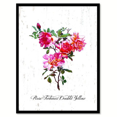 Purple Rose Flower Framed Canvas Print Home Décor Wall Art