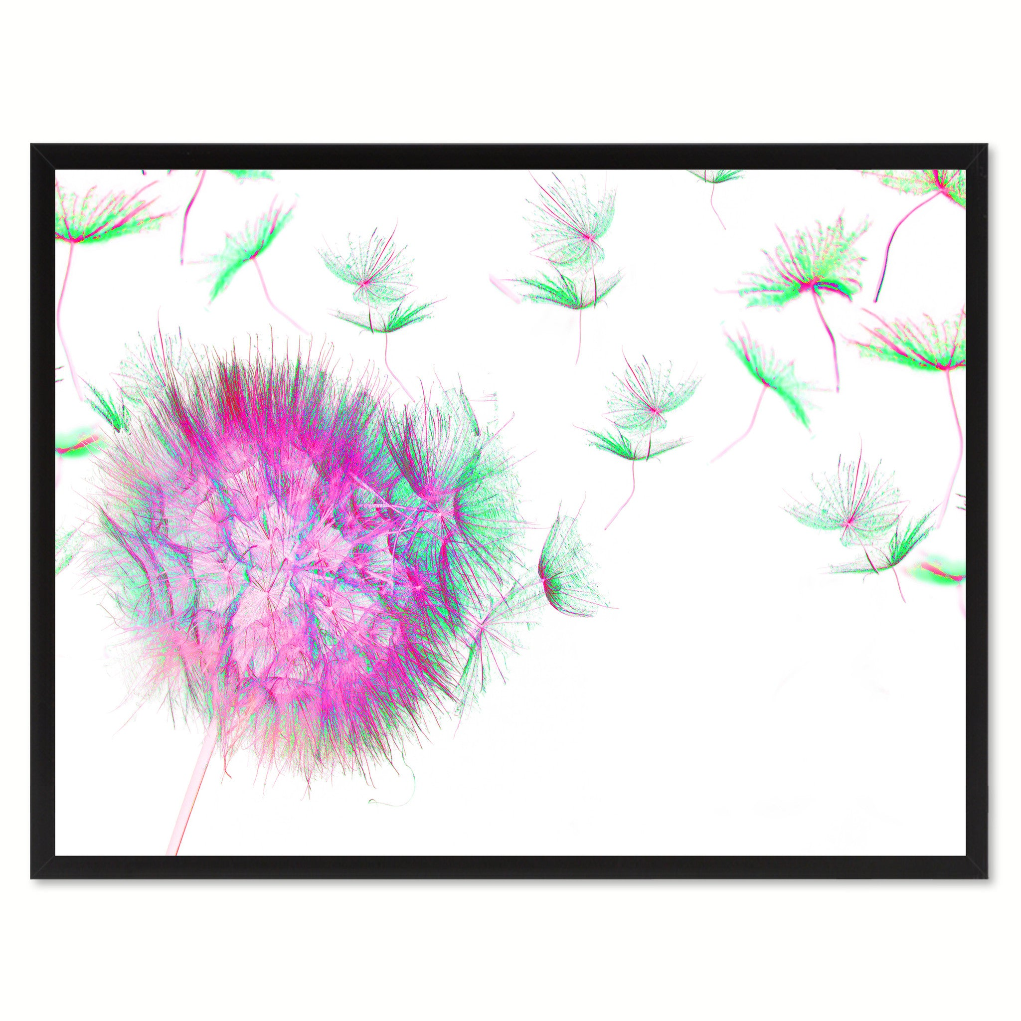 Pink Dandelion Flower Framed Canvas Print Home Décor Wall Art