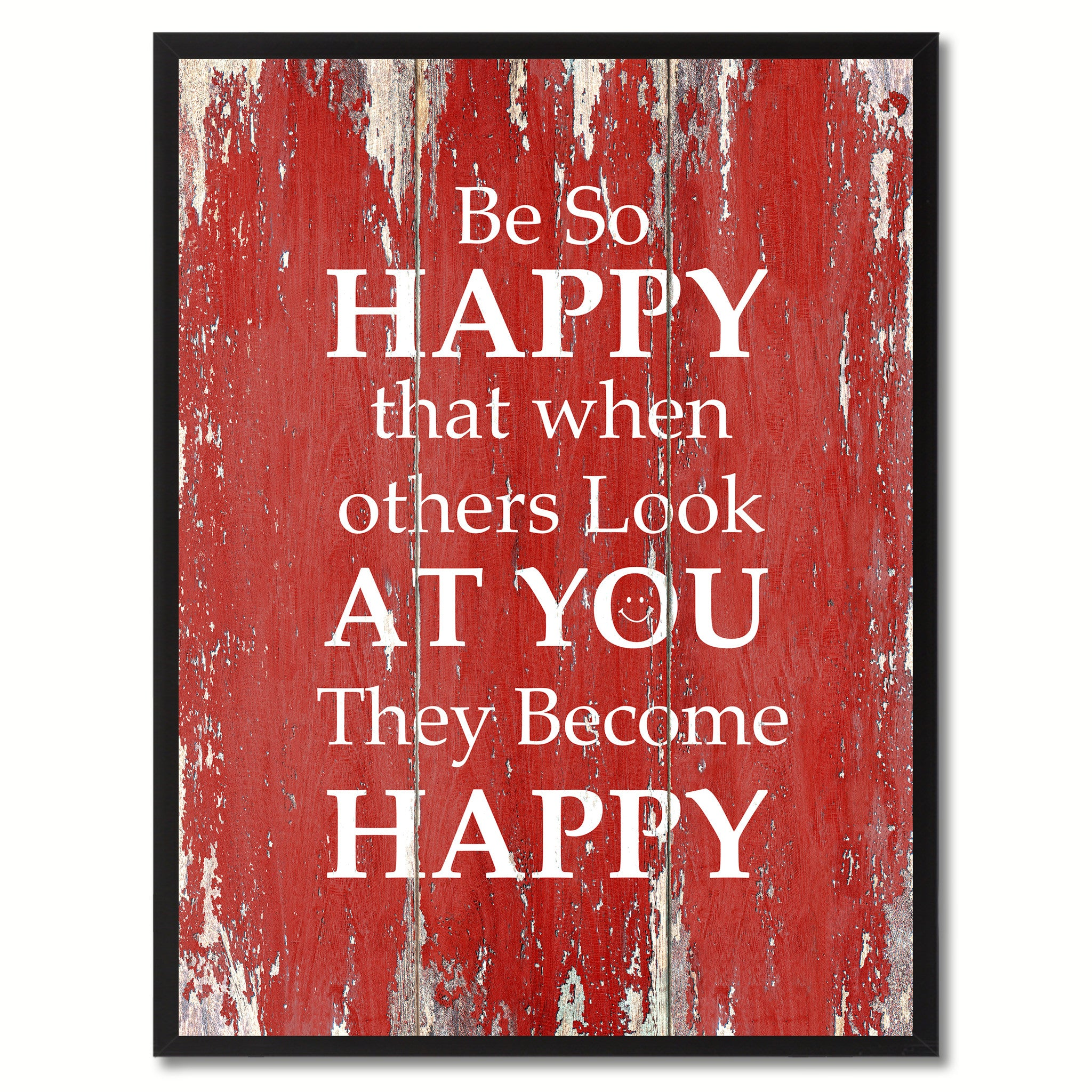 Be So Happy That When Others Look At You Saying Canvas Print, Black Picture Frame Home Decor Wall Art Gifts