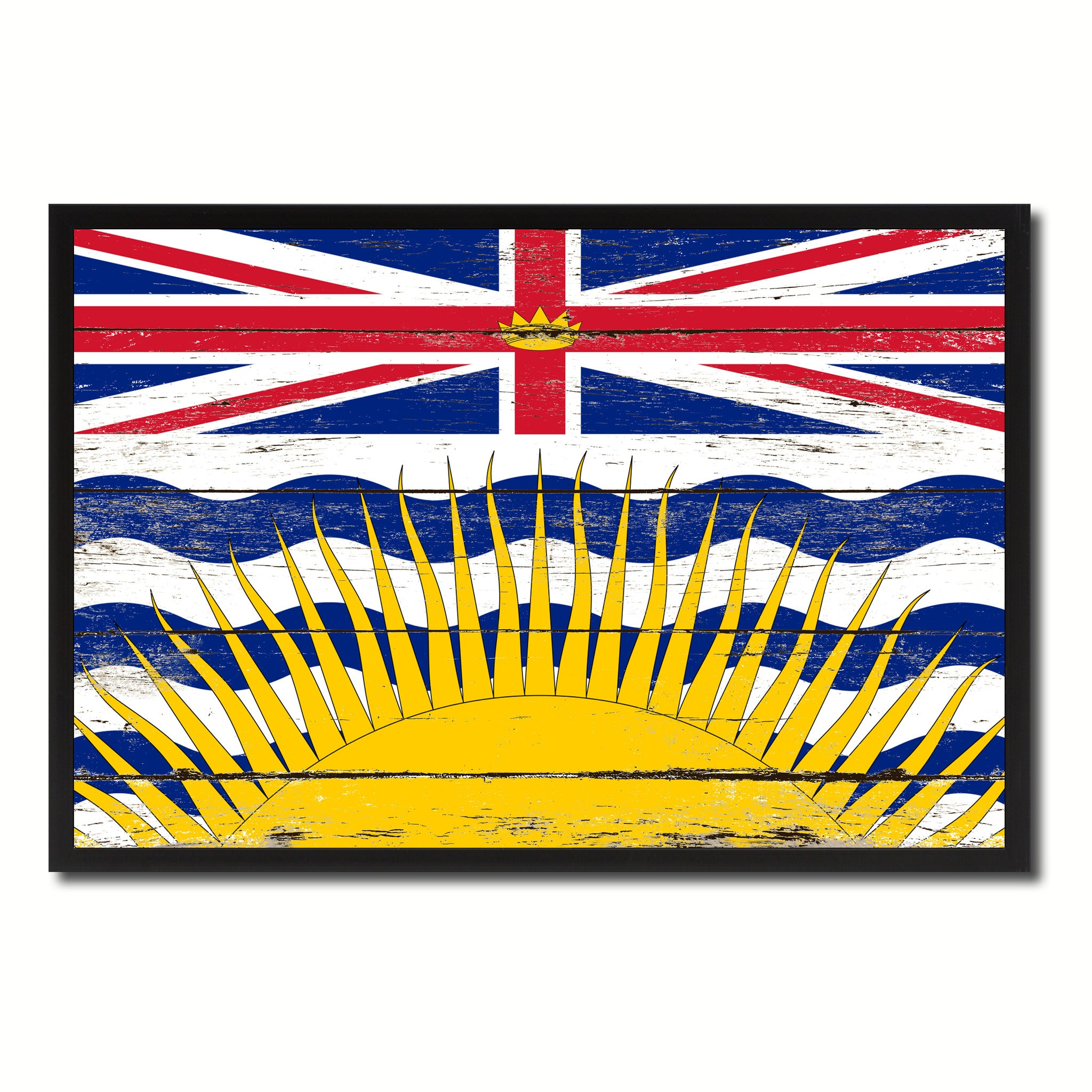 British Columbia Province City Canada Country Vintage Flag Home ...