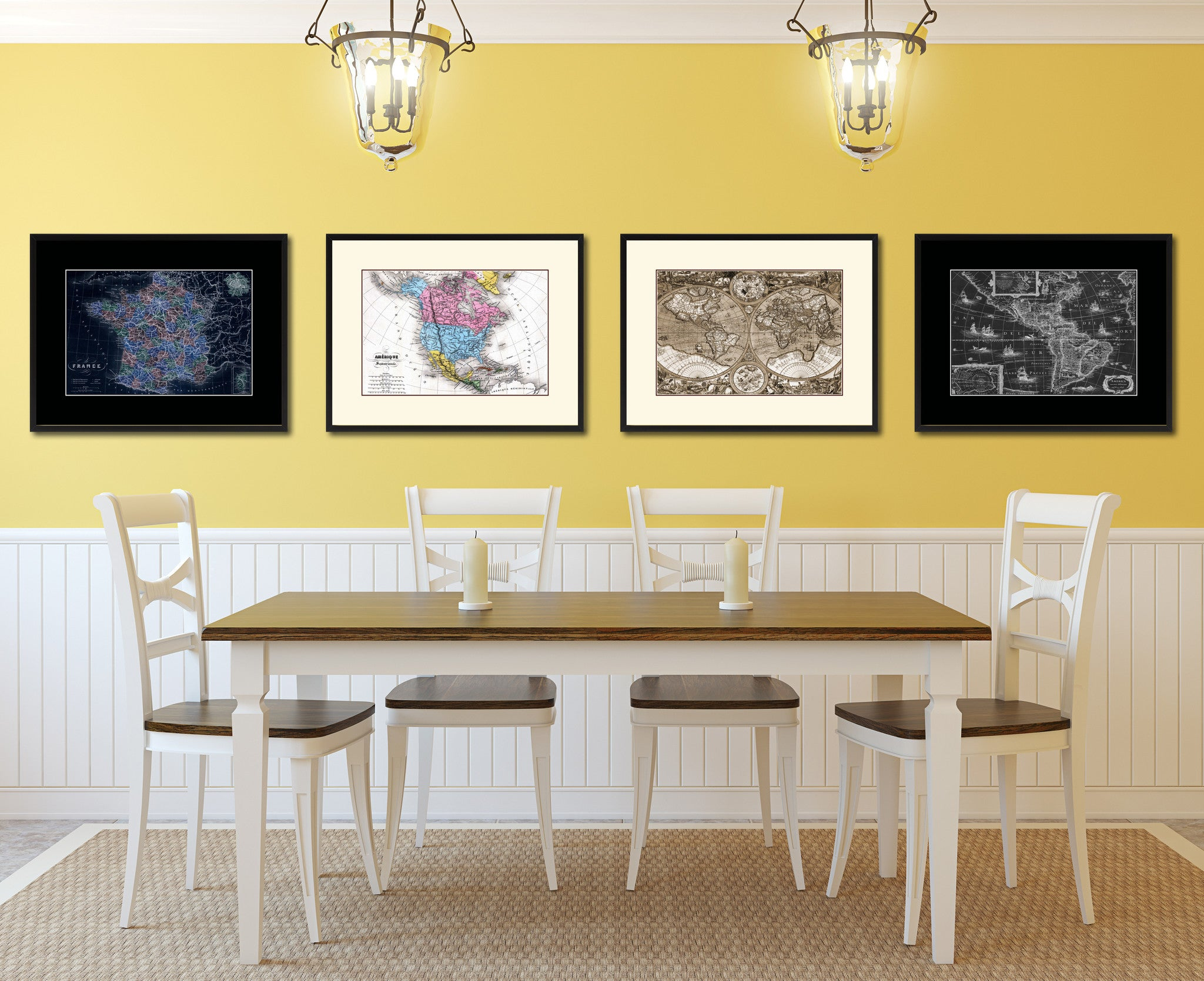 Colorful Vintage French Wall Art Ideas - Wall Art Collections ...