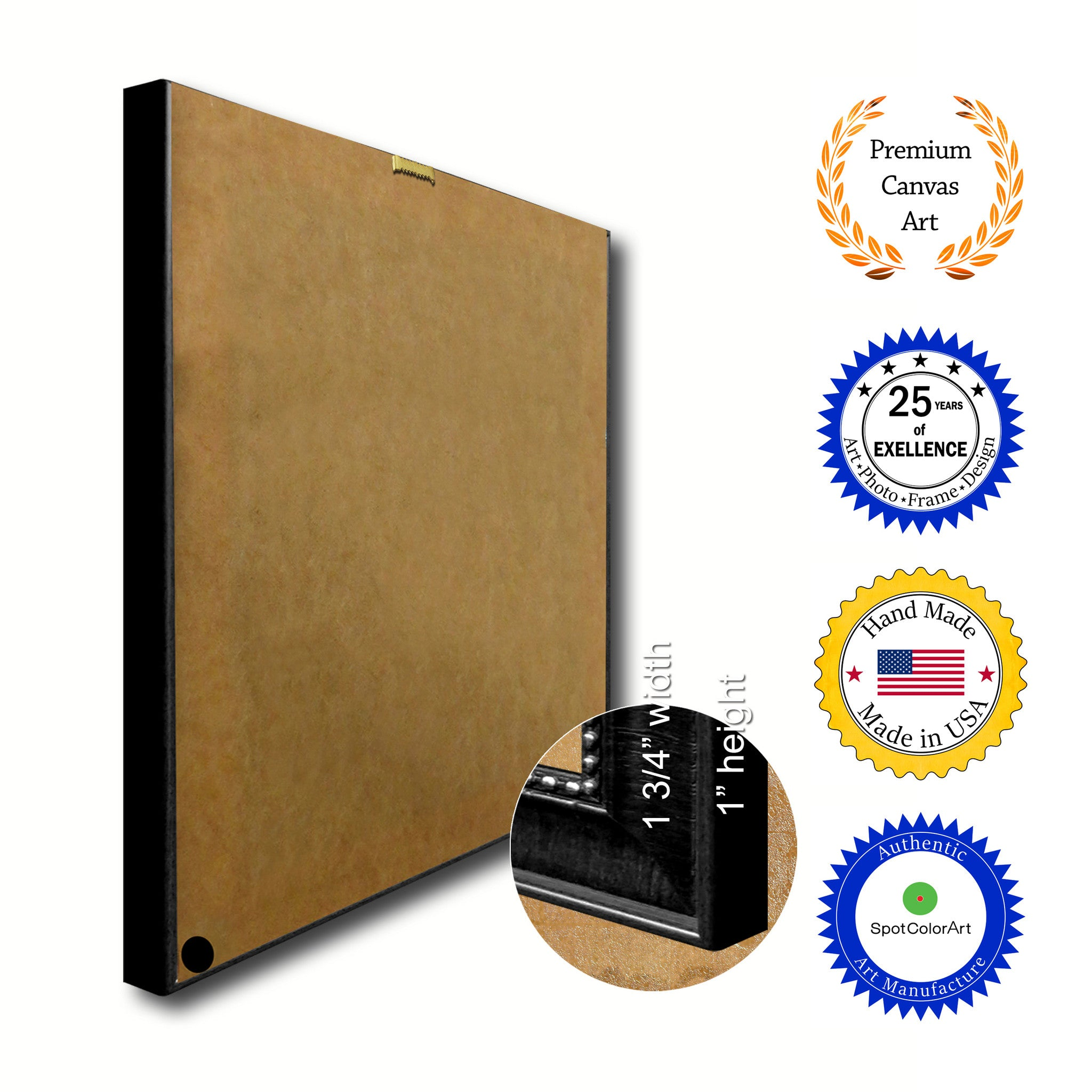 Columbus City Indiana State Texture Flag Canvas Print Black Picture Frame